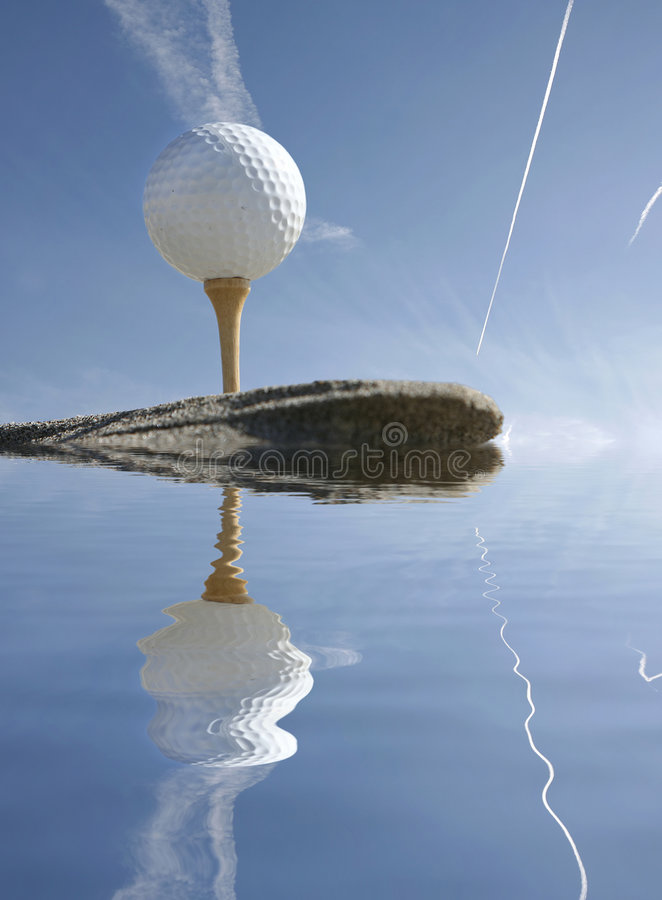 γκολφ σφαιρών που απεικ& στοκ εικόνα