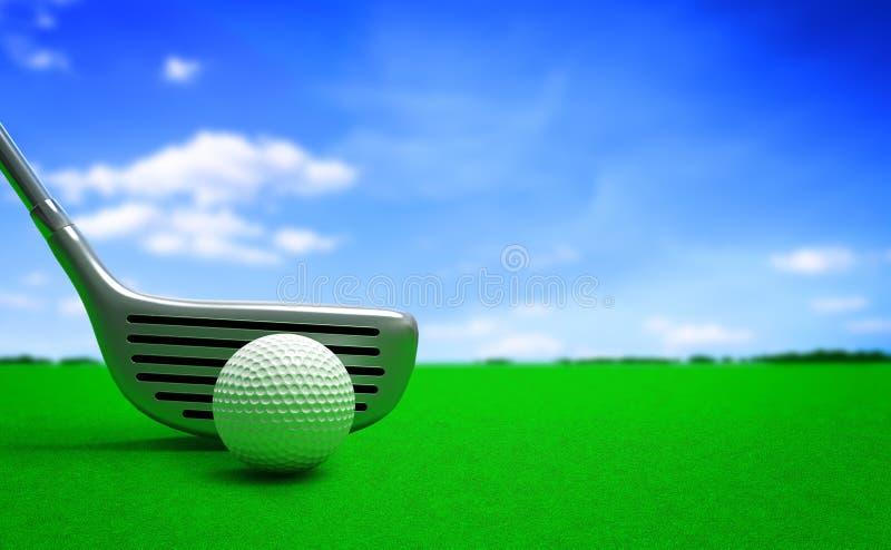 γκολφ σφαιρών διανυσματική απεικόνιση