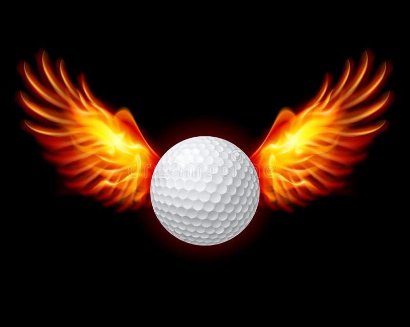 Γκολφ-φλογερά φτερά απεικόνιση αποθεμάτων