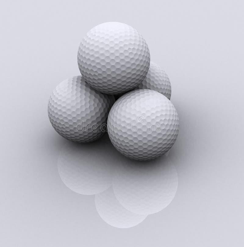 γκολφ 3 σφαιρών απεικόνιση αποθεμάτων