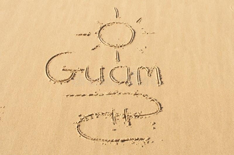 Γκουάμ στην άμμο στοκ εικόνα με δικαίωμα ελεύθερης χρήσης