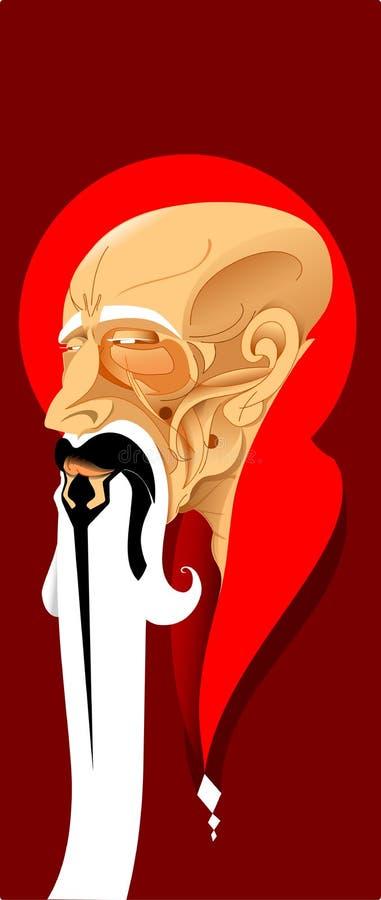 Γκουρού της Zen διανυσματική απεικόνιση