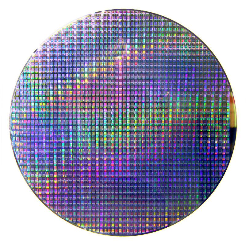 Γκοφρέτα πυριτίου υπολογιστών στοκ εικόνα