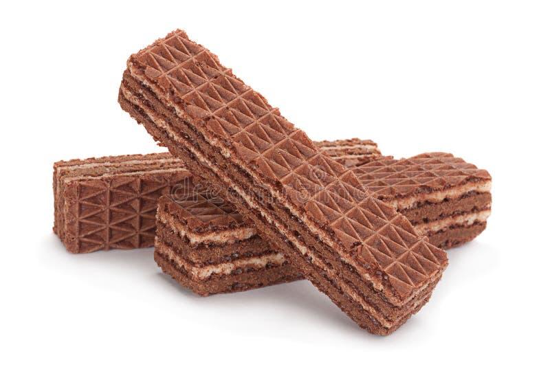 Γκοφρέτες γλυκιάς σοκολάτας στοκ εικόνες