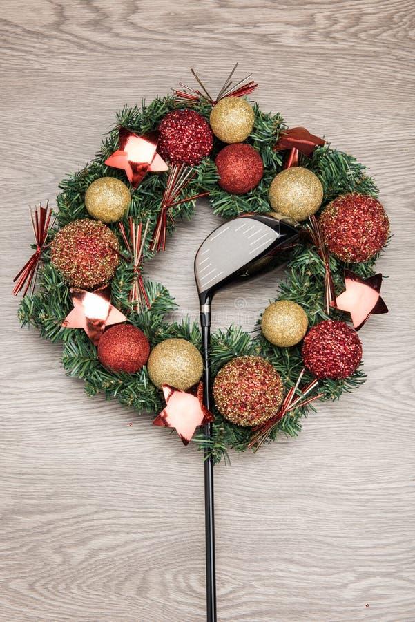 Γκολφ κλαμπ δώρων Χριστουγέννων στοκ εικόνα με δικαίωμα ελεύθερης χρήσης