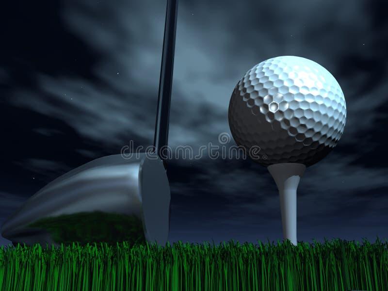 Γκολφ νύχτας απεικόνιση αποθεμάτων