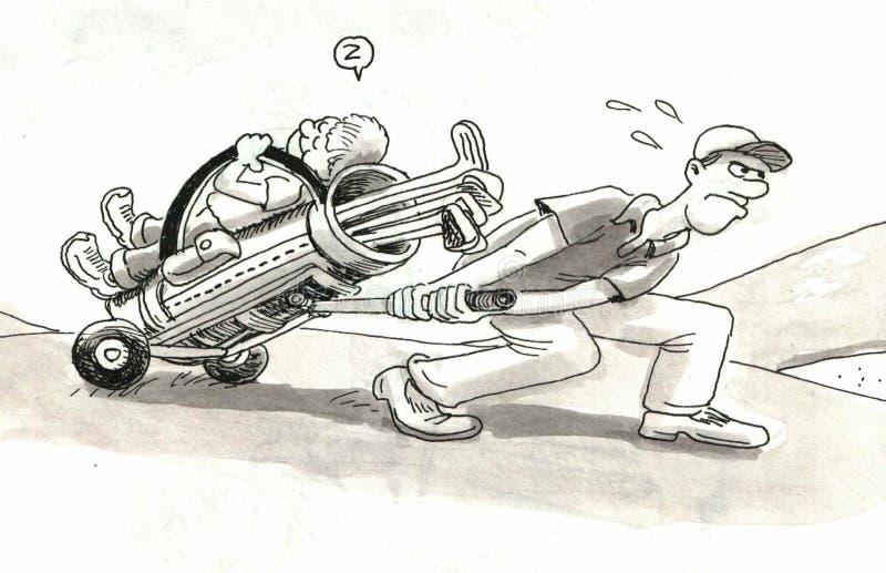 Γκολφ Caddy απεικόνιση αποθεμάτων