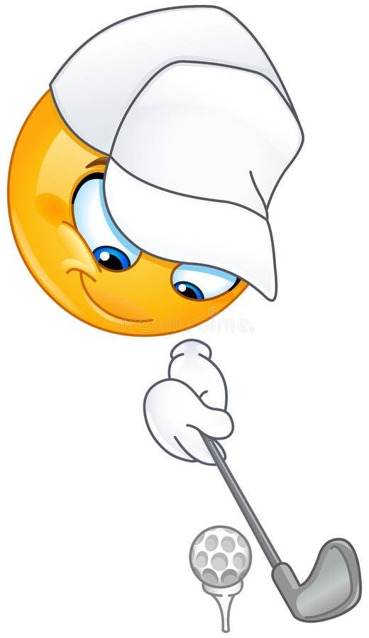 Γκολφ emoticon διανυσματική απεικόνιση
