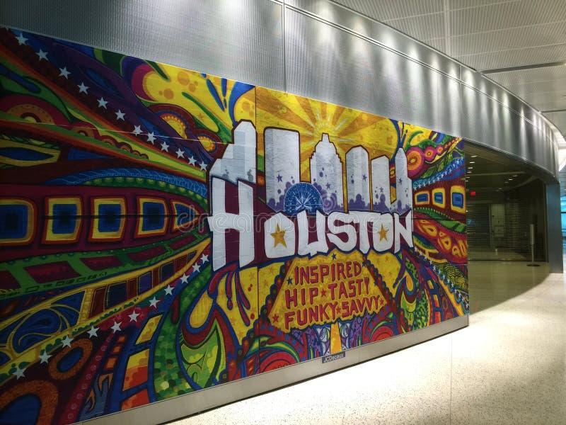 Γκράφιτι αερολιμένων του Χιούστον στοκ εικόνες