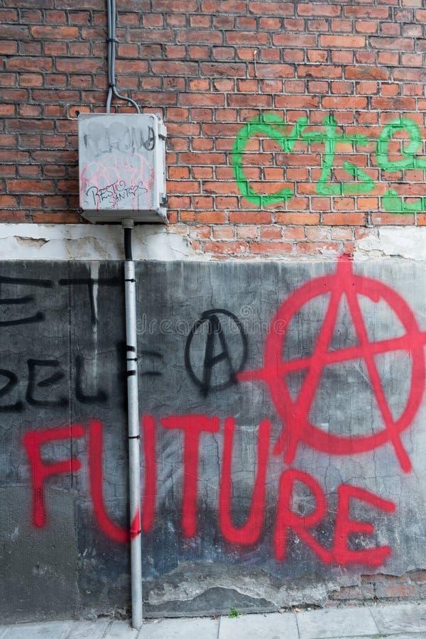 Γκράφιτι αναρχίας στοκ εικόνα με δικαίωμα ελεύθερης χρήσης