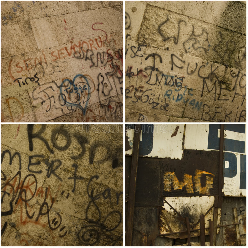 γκράφιτι ανασκοπήσεων στοκ εικόνες