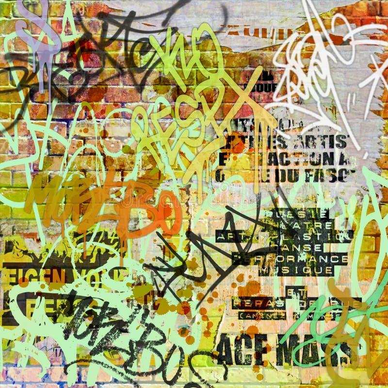γκράφιτι ανασκόπησης διανυσματική απεικόνιση
