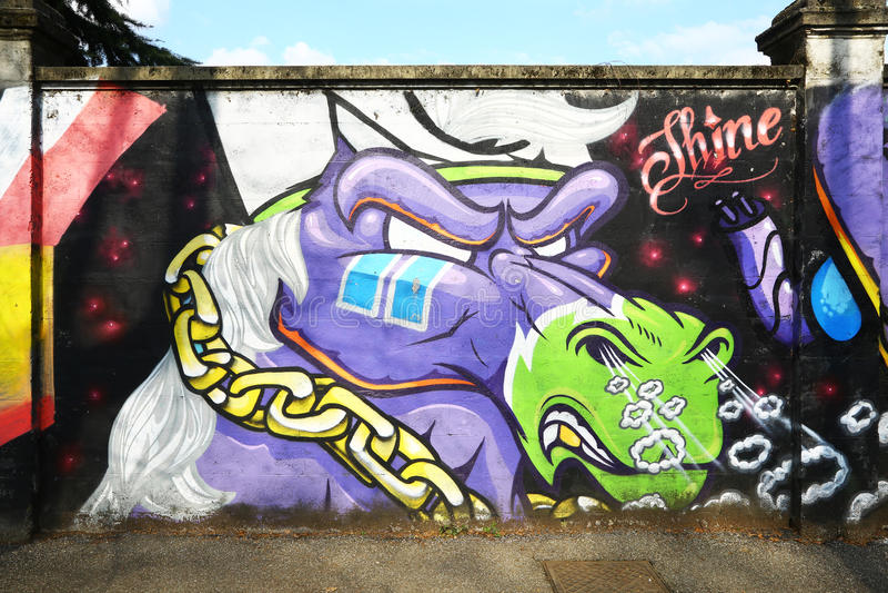 Γκράφιτι ενός υ αλόγου σε έναν τοίχο στοκ φωτογραφία με δικαίωμα ελεύθερης χρήσης