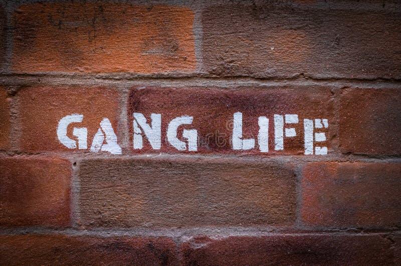 Γκράφιτι ζωής συμμορίας στοκ εικόνες με δικαίωμα ελεύθερης χρήσης