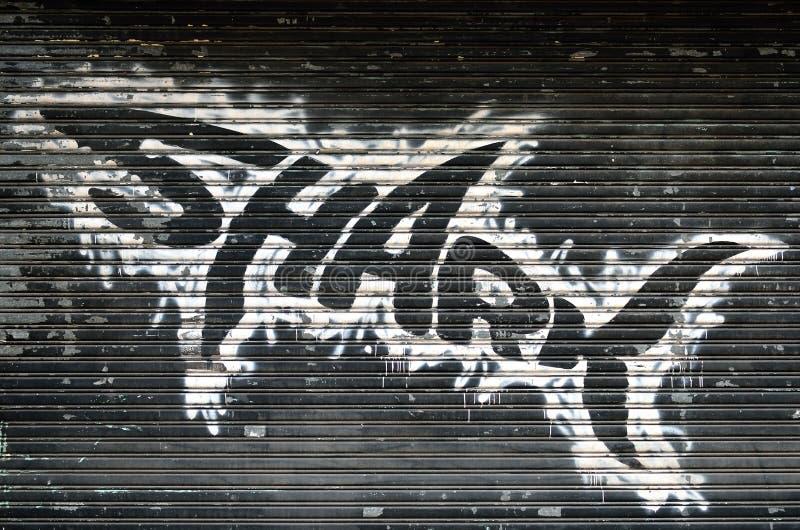 Γκράφιτι καρχαριών στοκ εικόνες