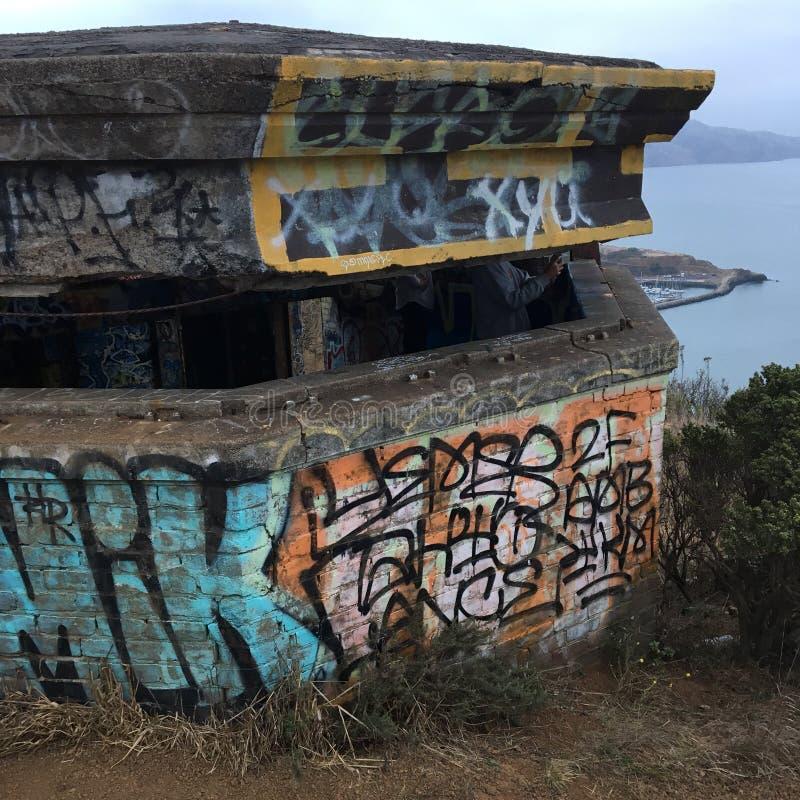 Γκράφιτι σε μια ιστορική περιοχή στοκ φωτογραφία