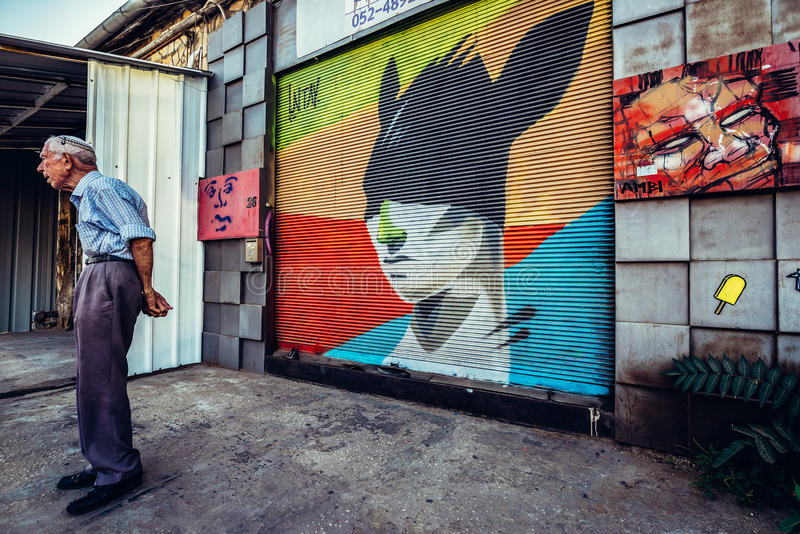 Γκράφιτι στο Τελ Αβίβ στοκ εικόνες με δικαίωμα ελεύθερης χρήσης