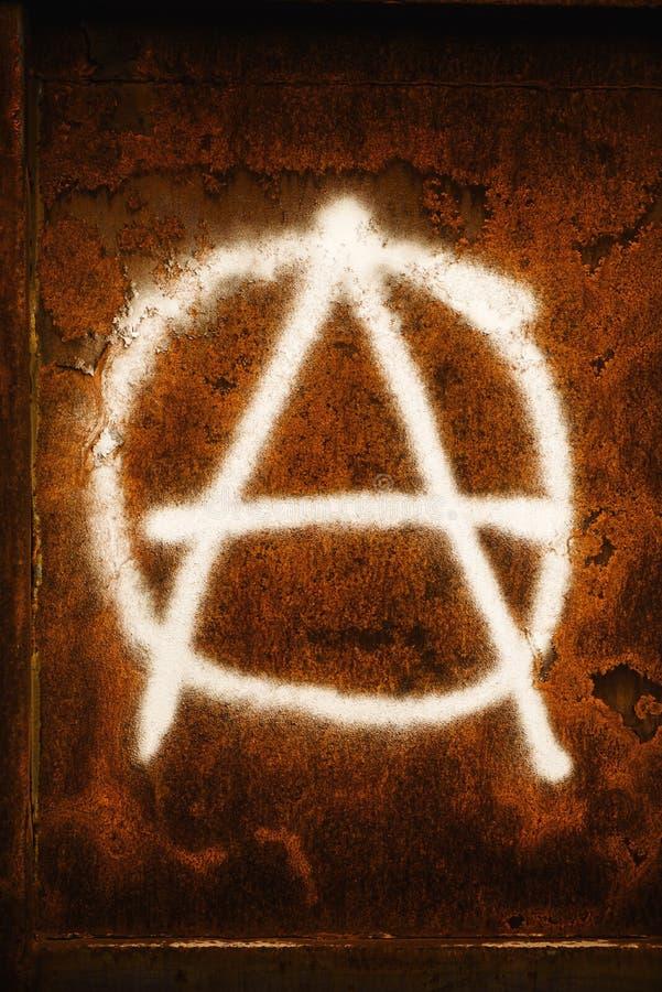 Γκράφιτι συμβόλων αναρχίας στοκ φωτογραφία με δικαίωμα ελεύθερης χρήσης
