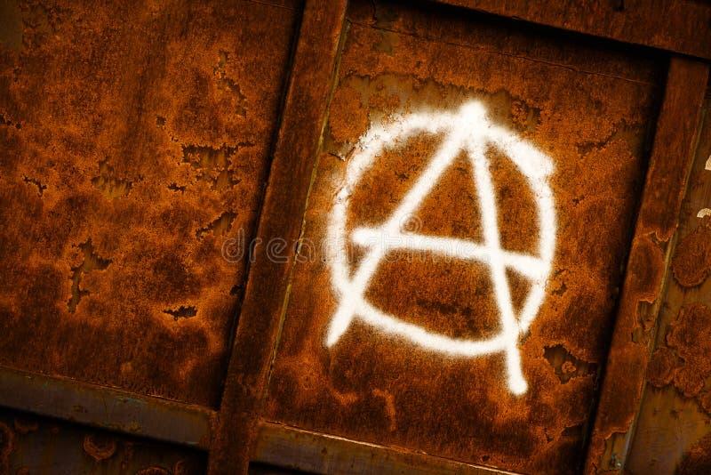 Γκράφιτι συμβόλων αναρχίας στοκ εικόνα
