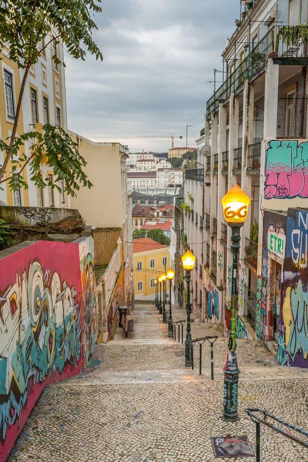 Γκράφιτι της Λισσαβώνας στοκ φωτογραφία με δικαίωμα ελεύθερης χρήσης