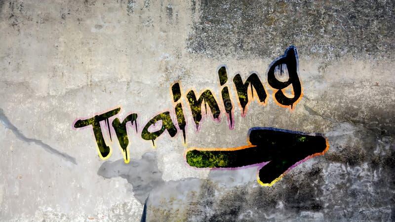 Γκράφιτι τοίχων στην κατάρτιση διανυσματική απεικόνιση