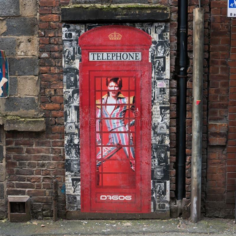 Γκράφιτι του David Bowie στοκ εικόνα