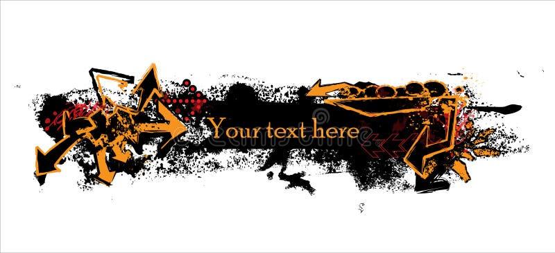 Γκράφιτι bannr στοκ φωτογραφίες με δικαίωμα ελεύθερης χρήσης