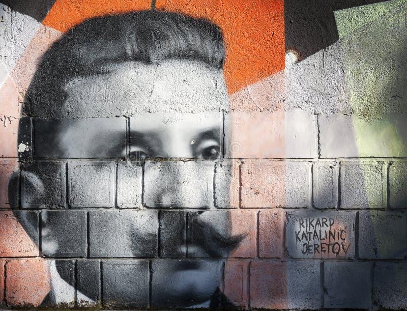 Γκράφιτι Katalinic Jeretov Rikard στοκ εικόνες