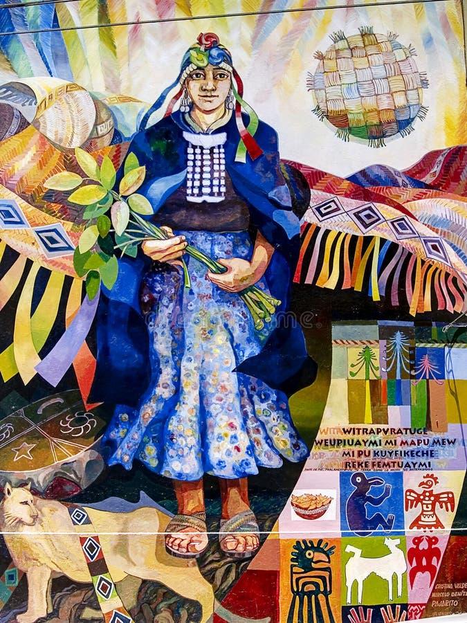 γκράφιτι mapuche στοκ φωτογραφία με δικαίωμα ελεύθερης χρήσης