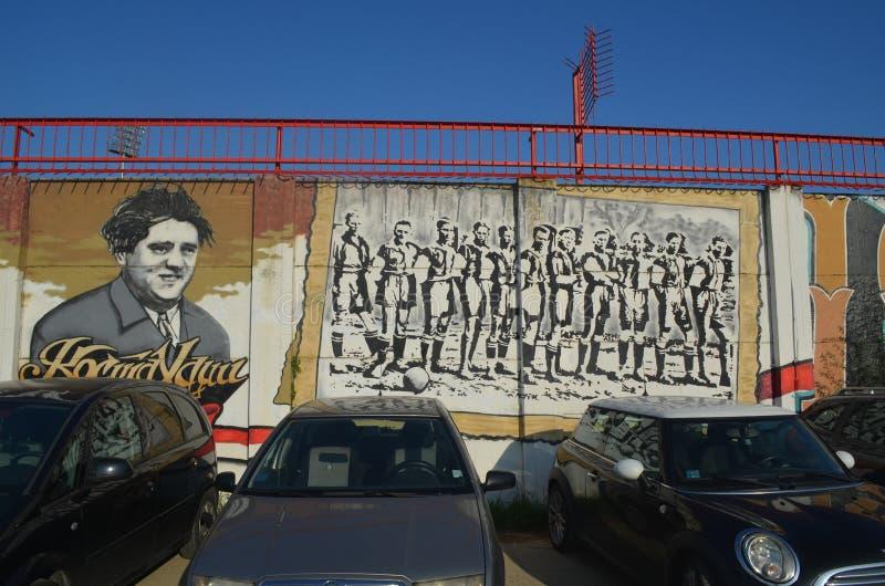 Γκράφιτι Vojvodina FC των ανεμιστήρων Novi Sad Σερβία στοκ εικόνες