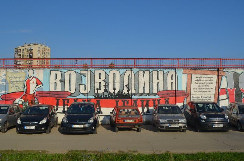 Γκράφιτι Vojvodina FC των ανεμιστήρων Novi Sad Σερβία στοκ φωτογραφία με δικαίωμα ελεύθερης χρήσης
