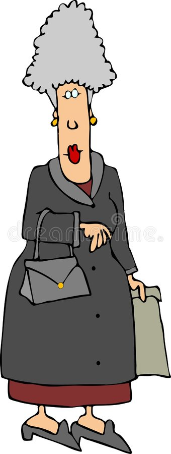 γκρίζα κυρία ελεύθερη απεικόνιση δικαιώματος