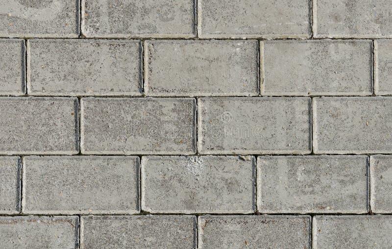 Γκρίζα πέτρα επίστρωσης της ορθογώνιας μορφής στοκ φωτογραφία