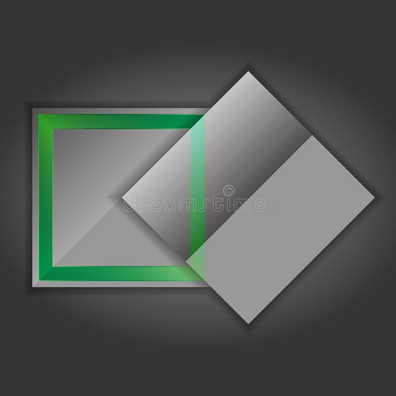 Γκρίζα παράθυρα κειμένου - απεικόνιση διανυσματική απεικόνιση