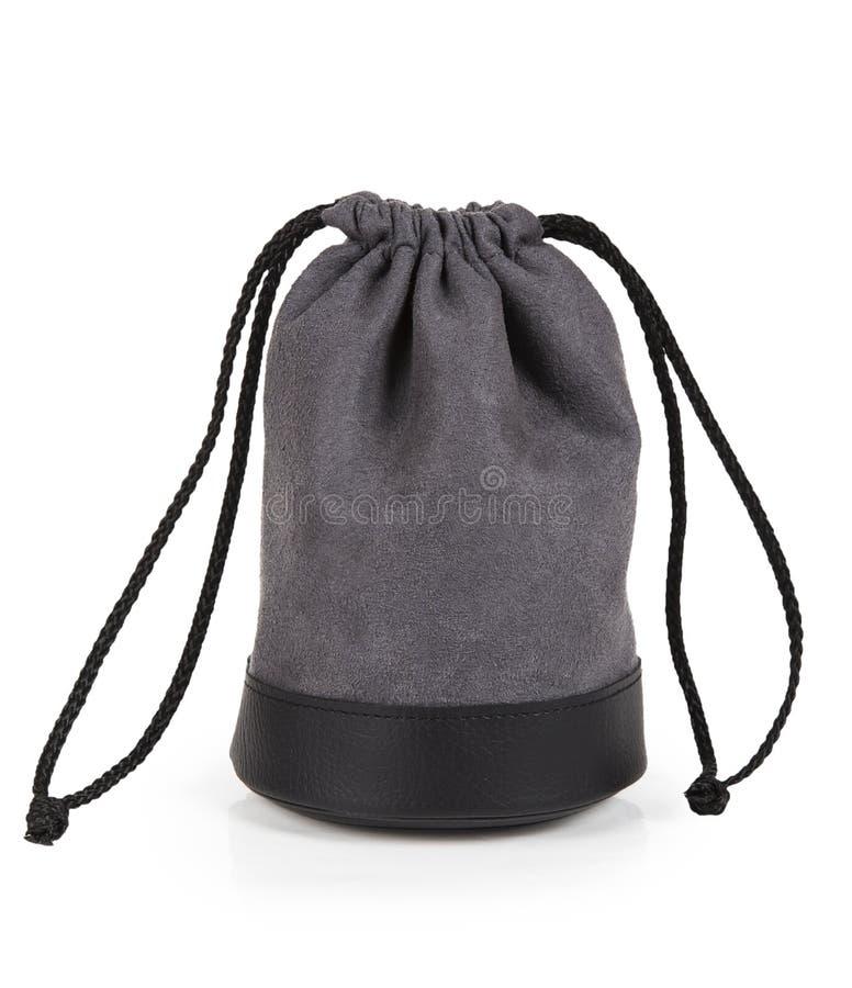Γκρίζα σακούλα με το φακό στοκ φωτογραφίες με δικαίωμα ελεύθερης χρήσης