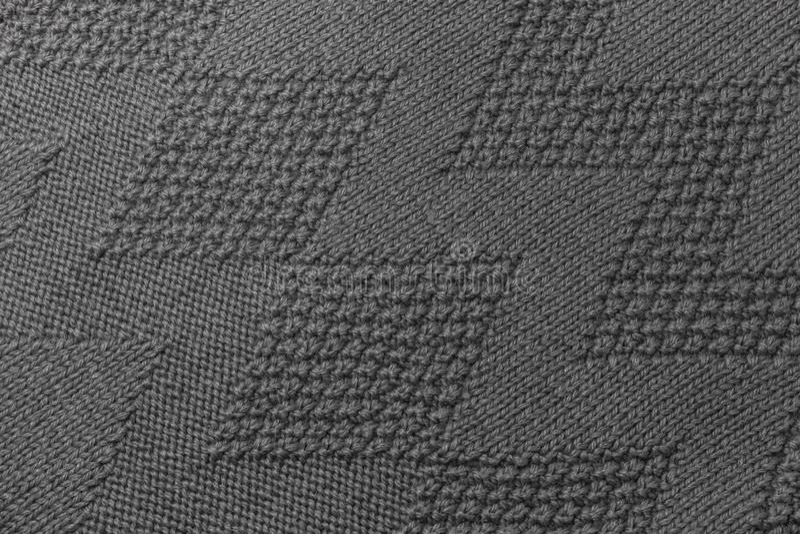 Γκρίζα σύσταση πουλόβερ σύστασης στοκ φωτογραφία με δικαίωμα ελεύθερης χρήσης