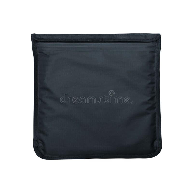 Γκρίζα τσάντα καλλυντικών που απομονώνεται στο λευκό στοκ φωτογραφίες