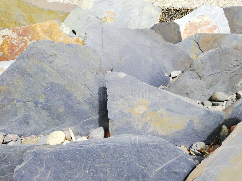 Γκρίζοι βράχοι στον κήπο στοκ εικόνα με δικαίωμα ελεύθερης χρήσης