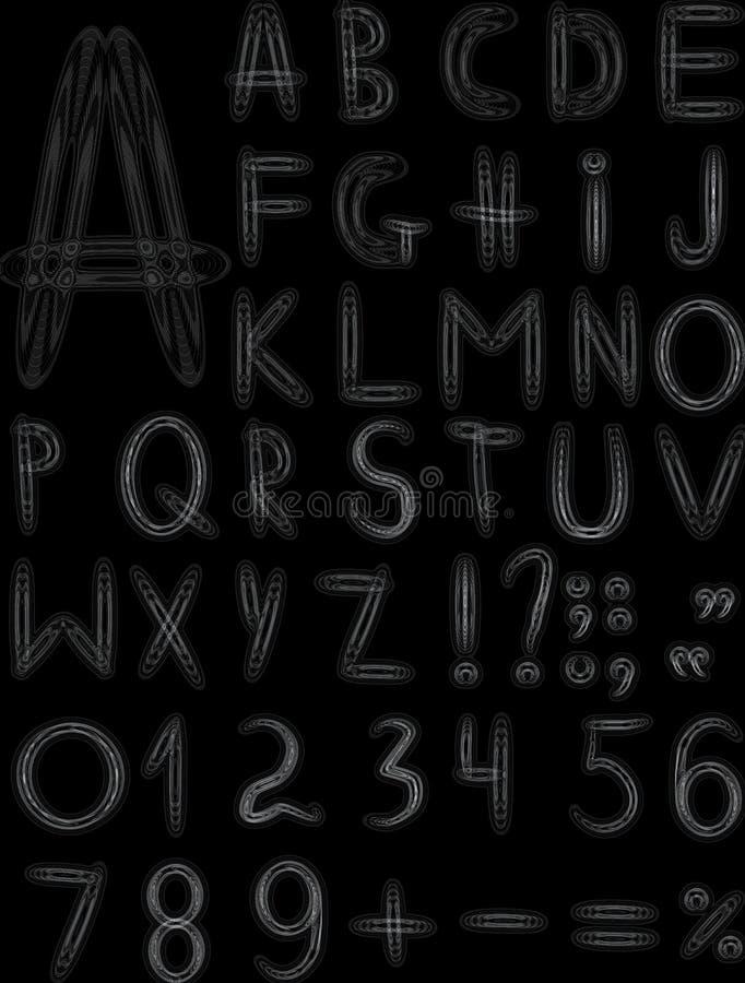 γκρίζος αρχικός τύπων χαρακτήρων διανυσματική απεικόνιση