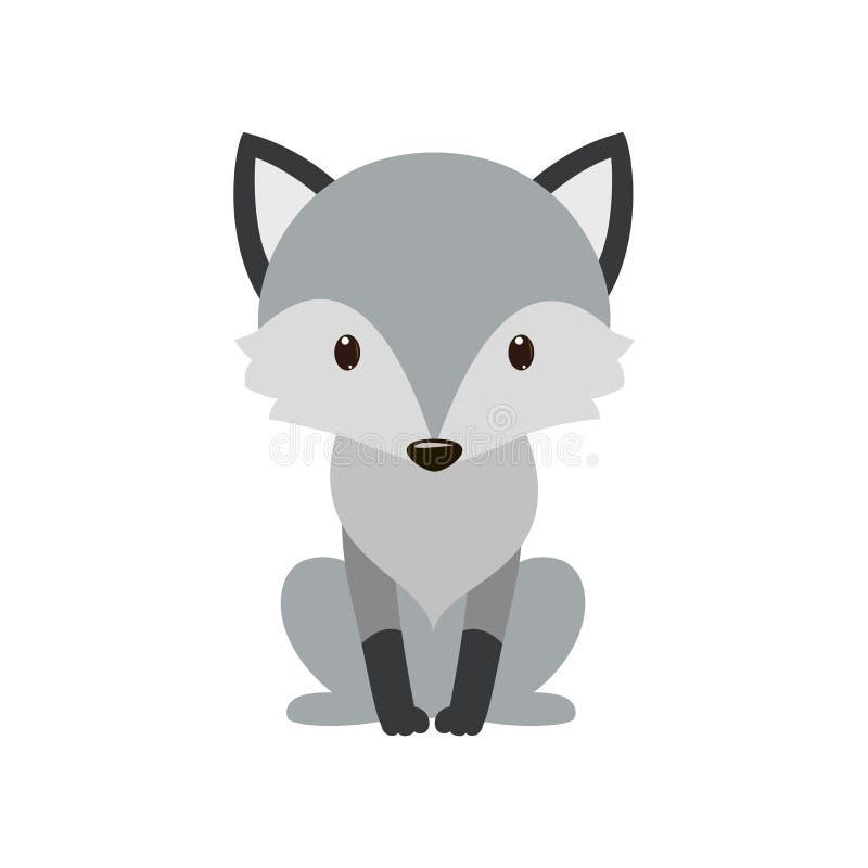 Γκρίζος λύκος Κινούμενα σχέδια, γκρι λύκων η φύση του χαρακτήρα απεικόνιση αποθεμάτων