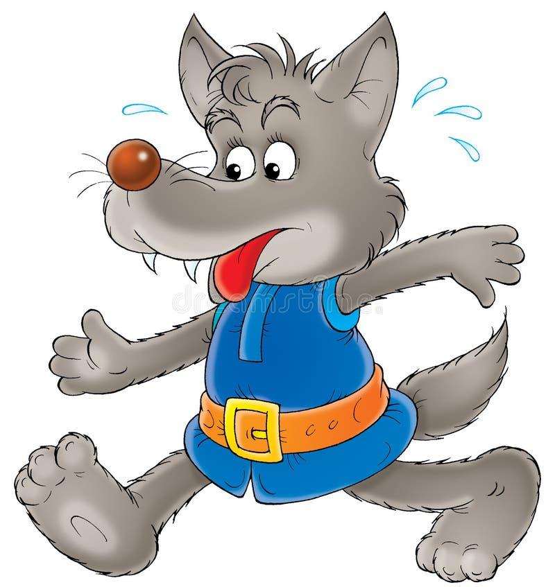 γκρίζος λύκος ελεύθερη απεικόνιση δικαιώματος