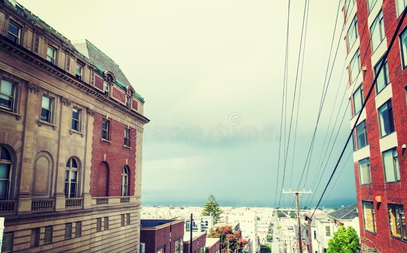 Γκρίζος ουρανός στο Σαν Φρανσίσκο στοκ εικόνα