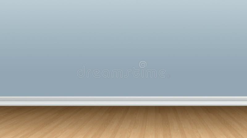 Γκρίζος τοίχος χρώματος με το ξύλινο πάτωμα στοκ εικόνες
