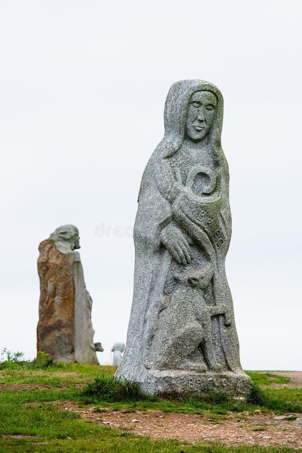 Γκρίζο άγαλμα της Αγίας Βρετάνης στοκ φωτογραφίες με δικαίωμα ελεύθερης χρήσης