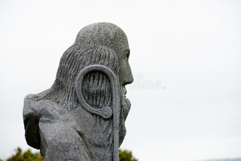 Γκρίζο άγαλμα του Αγίου Μάλο στοκ φωτογραφία