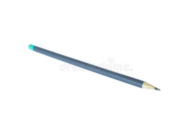 Γκρίζο από γραφίτη μολύβι που απομονώνεται στο καθαρό άσπρο υπόβαθρο στοκ φωτογραφία με δικαίωμα ελεύθερης χρήσης
