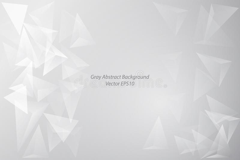 Γκρίζο αφηρημένο υπόβαθρο διαφάνειας τριγώνων άσπρο απεικόνιση αποθεμάτων