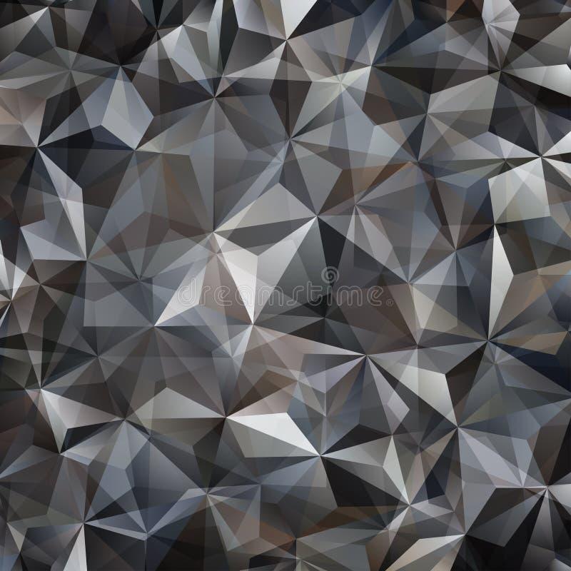 Γκρίζο αφηρημένο υπόβαθρο τριγώνων απεικόνιση αποθεμάτων