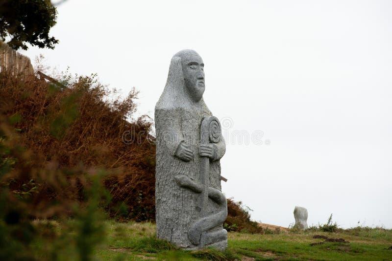Γκρίζο γκρανίτ άγαλμα του Πάντερν στοκ φωτογραφία με δικαίωμα ελεύθερης χρήσης