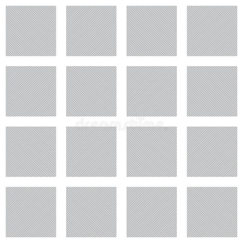 Γκρίζο διανυσματικό τετραγωνικό σχέδιο πλέγματος άνευ ραφής σύσταση διανυσματική απεικόνιση